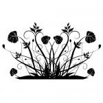 Sticker pereti flori WLF116