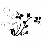 Wall sticker floare WLF117