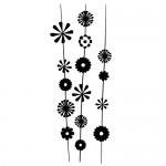 Stickere pereti flori WLF122