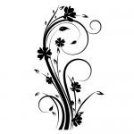 Stickere floare WLF124