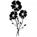 Sticker floare decorativa WLF202