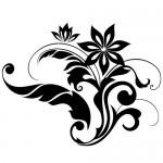 Sticker floare abstracta WLF301