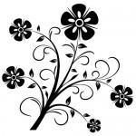 Sticker perete  floare WLF304