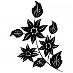 Autocolant perete floare WLF307