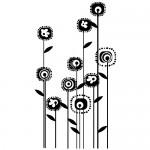 Autocolante perete flori WLF315