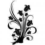 Sticker decorativ floare WLF316
