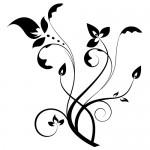 Stickere decorative floare WLF328