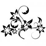 Sticker perete floare WLF329