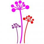 Stickere de perete flori  WLF417