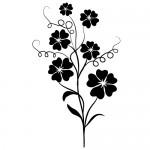 Sticker de perete floare WLF423