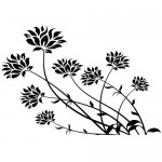 Stickere pereti flori WLF518