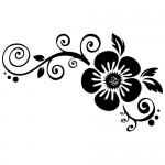 Sticker floare WLF519