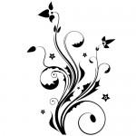 Sticker decorativ floare WLF528