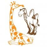 Sticker girafa si camila WCA605
