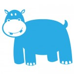 Sticker hipopotam WCA314
