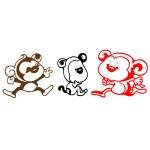 Sticker maimute haioase WCA510