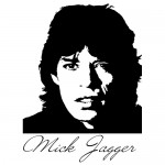 Sticker Mick Jagger WLCB17