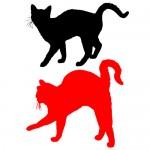 Sticker 2 pisici WCAC15