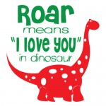 Sticker roar dinosaur WCA835