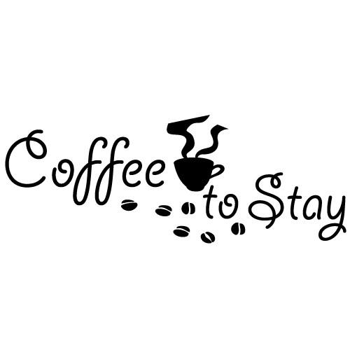 Sticker coffee to stay WLT122
