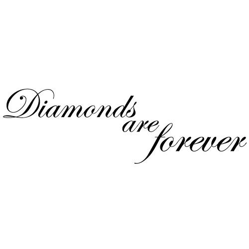 Sticker diamonds are forever WLT123