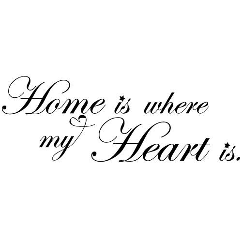 Sticker home heart WLT129