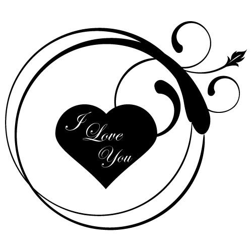 Sticker i love you WLT202
