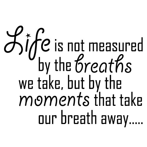 Sticker life breaths moments WLT208