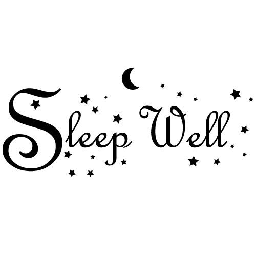 Sticker sleep well WLT220
