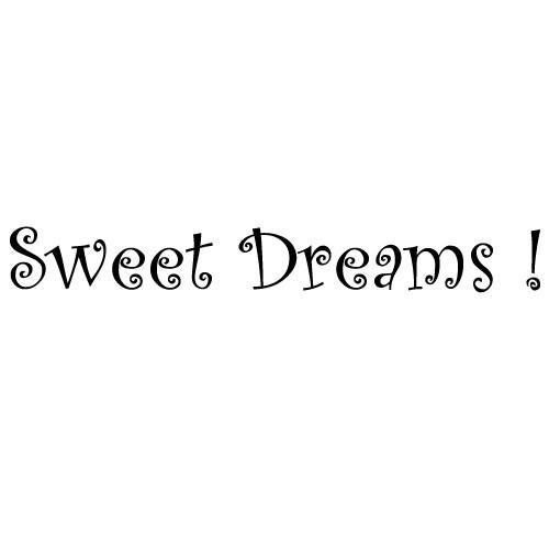 Wall sticker sweet dreams WLT224