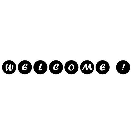 Sticker text welcome WLT231