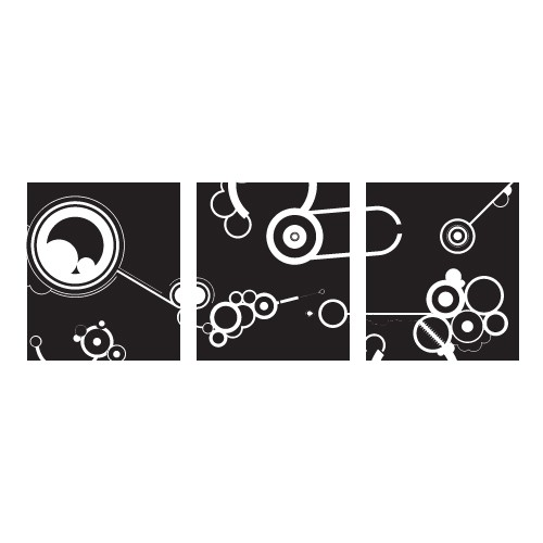Sticker banner abstract circle WLB026