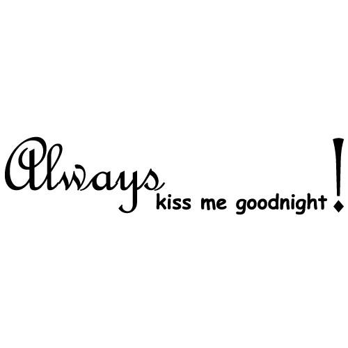 Sticker always kiss WLT104
