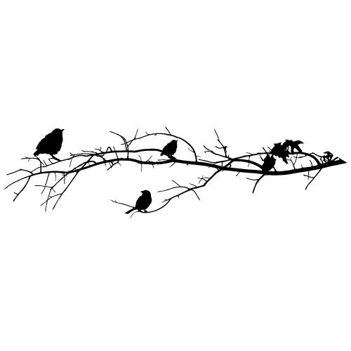 autocolante de perete decorative pasarele-pe-crenguta