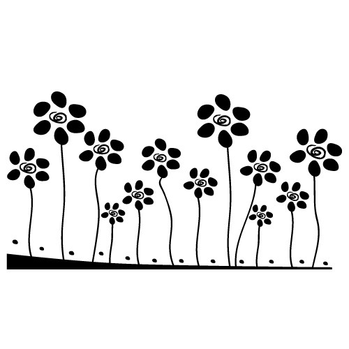 autocolant de perete floricele