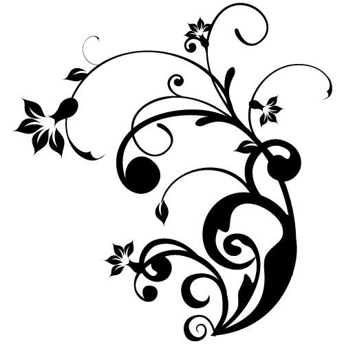 autocolant de perete floare abstracta