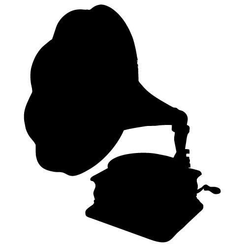sticker decorativ fonograf