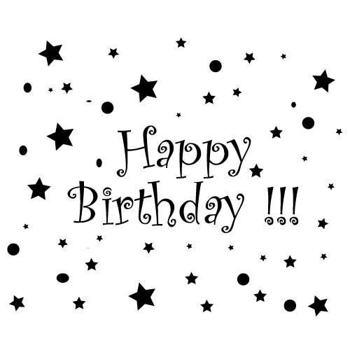 autocolant de perete happy birthday