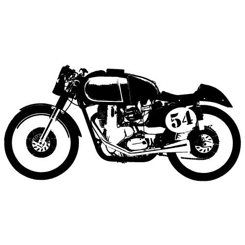 sticker de perete motocicleta