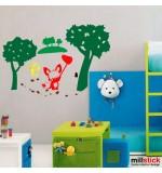 Sticker animalute in padure WCA903
