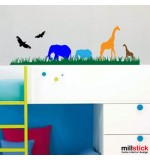 Wall sticker girafe si elefanti  WCAV27