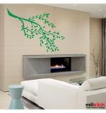 autocolant de perete creanga cu frunze