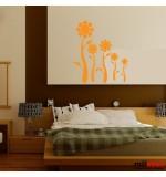stickere decorative de perete floricele