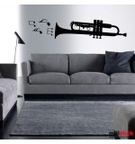 autocolant de perete trompeta