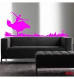 wallsticker decorativ balerina