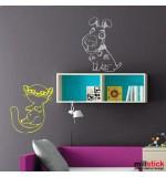 Sticker catel si pisica WCA609