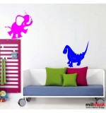 wallsticker elefant cu dinozaur