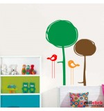 Sticker copaci cu pasari WCA909