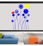 Sticker floricele cu pasari WCAV11