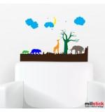 Sticker animale in jungla WCAV33